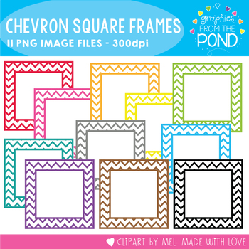 Chevron Square Borders FREE Graphics From the Pond