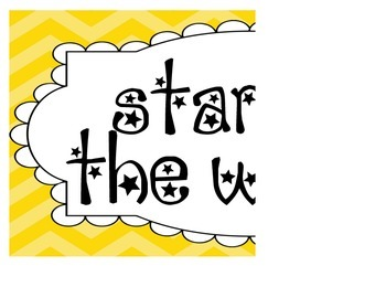 Chevron Star of the Week Poster