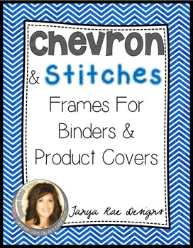 Chevron & Stitches Frames for Binders & Product Covers