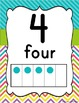 Chevron & Stripes Number Line Posters  0-20