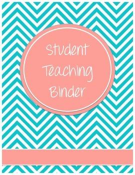 Chevron Student Teaching Binder Cover (Editable)
