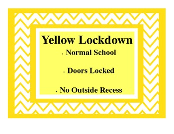 Chevron Style Lockdown Procedures Classroom Poster-A Quick