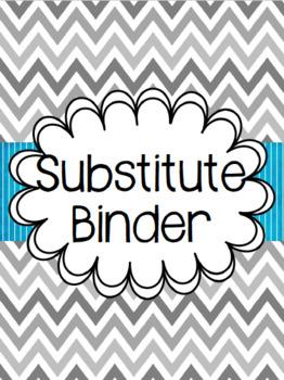 Chevron Substitute Binder - Editable