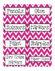 Labels for the classroom in Chevron ~4 Colors~ Classroom S