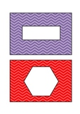 Chevron Table Labels- no numbers