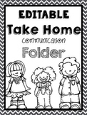 Chevron Take Home Folder Editable and Black and White