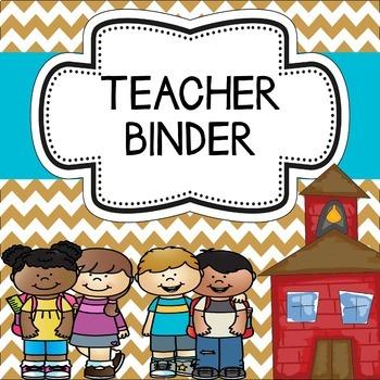 Teacher Binder (Editable) Chevron Theme