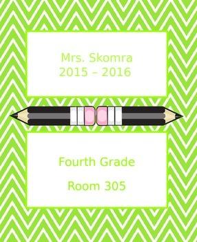 Chevron Teacher Binder Section Title Pages
