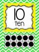 Chevron Ten Frame Posters 0-20