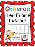 Chevron Ten Frames Posters