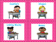 Daily 5 & Math Center Labels- Chevron Theme  (Teal, Pink,