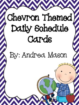 Chevron Theme Daily Schedule Cards