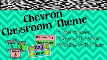 Chevron Theme Decor Accents