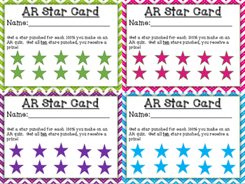 Chevron Themed AR Punch Card