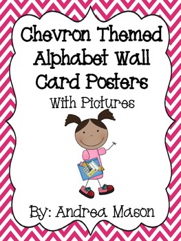 Chevron Themed Alphabet Wall Posters with Pictures