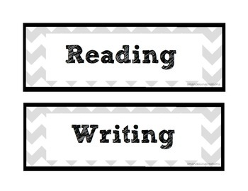 Chevron Themed Classroom Labels