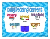 Reading Rotation Powerpoint Chevron Theme for Daily Center