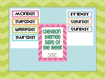 Chevron Themed Days of the Week