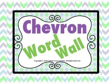 Chevron Themed Word Wall