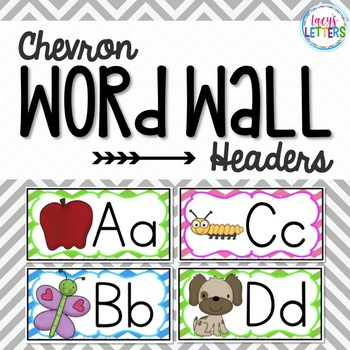 Chevron Themed Word Wall Headers {with pictures}