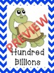 Chevron Turtle Place Value Posters