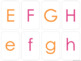 Alphabet Matching Cards with Uppercase, Lowercase and Trac