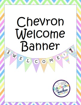 FREE Welcome Banner {Chevron}