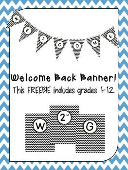 Chevron Welcome Banner (Grades 1-12)