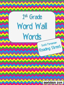 Chevron Word Wall Cards