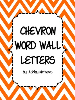 Chevron Word Wall Letter Pennants