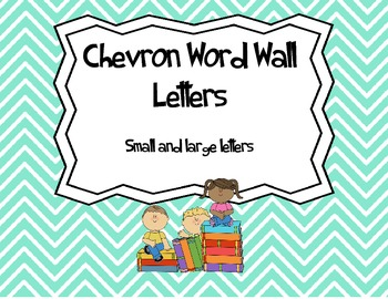 Word Wall Letters - Chevron