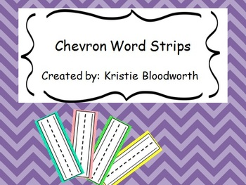 Chevron Word Wall Strips/Cards
