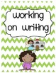Chevron Writer's Notebook / Writing Folder Covers