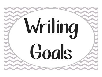 Chevron Writing Goal Clip Chart