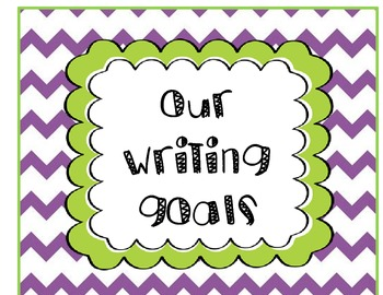 Chevron Writing Goals Poster Set