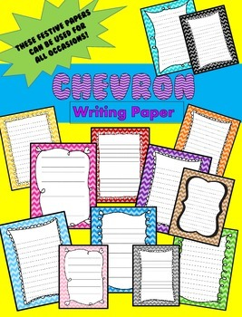 Chevron Writing Papers - Personal & Commercial use