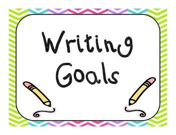 Chevron Writing goals