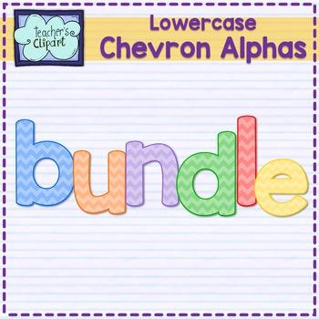 Chevron alphas letters {LOWERCASE - BUNDLE}