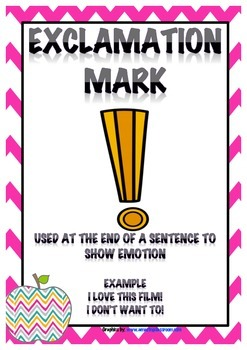 Punctuation Posters apple and chevron theme {year2tastic}