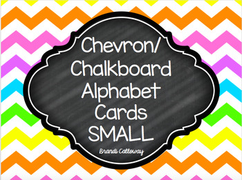 Chevron and Chalkboard Alphabet Cards SMALL
