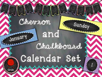 Chevron and Chalkboard Calendar Set