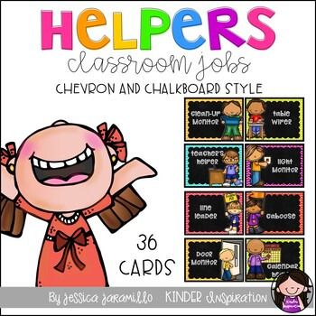 Chevron and Chalkboard Classroom Helpers