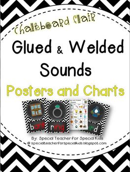 Chevron and Chalkboard **Glued and Welded Sounds Posters a