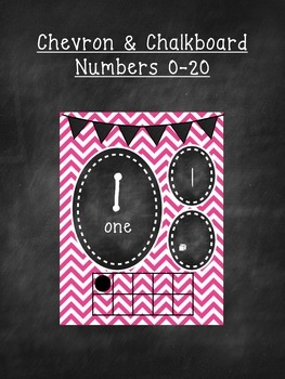 Chevron and Chalkboard Numbers