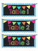 Chevron and Chalkboard Table Supplies/Table Labels