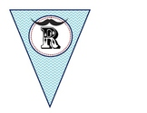 Chevron and Mustache READ Bunting banner