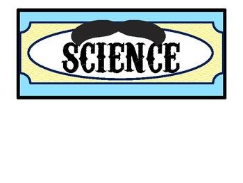 Chevron and Mustache Subject Headers