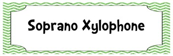 Chevron and Polka Dot Orff Instrument Labels (Xylo, Glock,