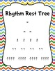 Chevron and Polka Dot Rhythm Note and Rest Posters and Rhy