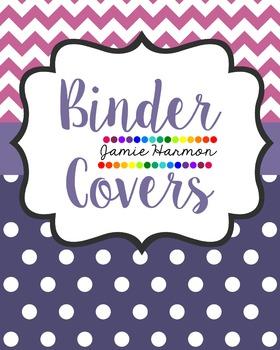 Chevron and Polka Dots Binder Covers
